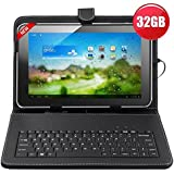 """32GB (16GB+16GB) 10.1""""inch Android 4.4 Quad-Core Touch Screen Tablet PC WIFI HDMI With Keyboard"""