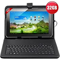 32GB (16GB+16GB) 10.1inch Android 4.4 Quad-Core Touch Screen Tablet PC WIFI HDMI With Keyboard