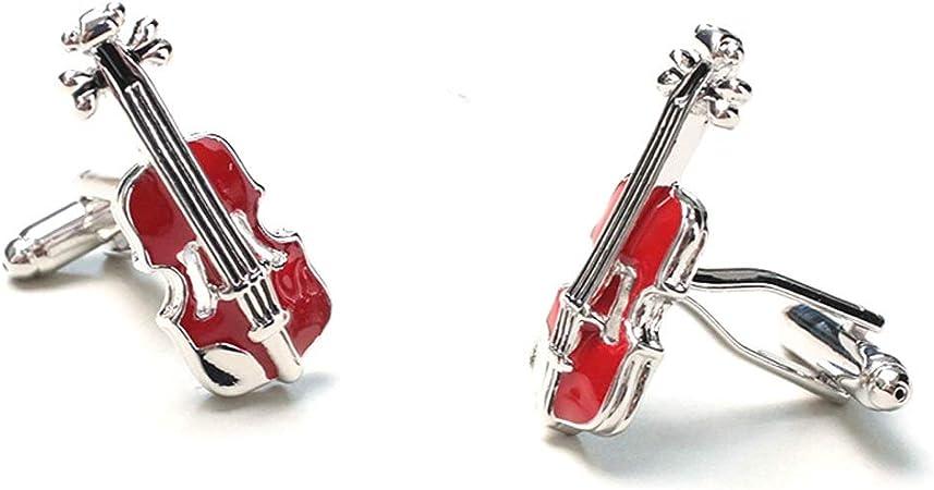 BJL Gemelos, violín francés, Camisa de Hombre, puños, mancuerna, Regalo de joyería de Boda for Hombres, Gemelos (Color : A): Amazon.es: Hogar