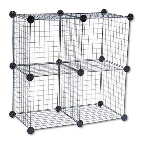 Amazon.com : Safco : Wire Cube Shelving System, 14w x 14d x 14h ...