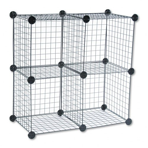 Safco Wire Cube Shelving System, 14w x 14d x 14h, Black -...