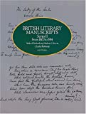 British Literary Manuscripts, , 0486241254