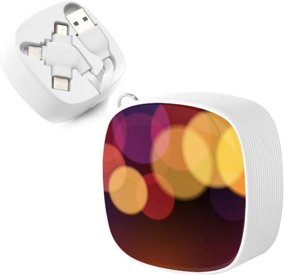 Universal Charging and Data Transmission Cable to Carry Vector Abstract Design Background