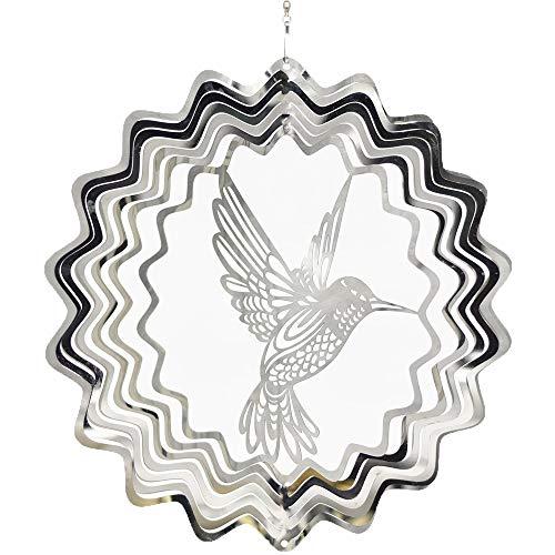 - FENDISI Stainless Steel Wind Spinner- 3D Indoor Outdoor Garden Decoration Crafts Ornaments