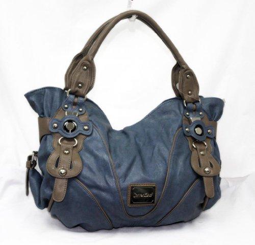 "In Style ""229"" Fashion Hobo 2013 Trendy Handbag Inspired Designer (Blue), Bags Central"