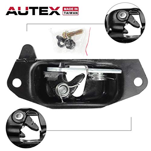 AUTEX 38666 Tailgate Tail Gate Latch Left Handle Driver Side Compatible with Chevrolet Silverado,GMC Sierra,Cadillac Escalade EXT 1999-2007 Door Handle (Driver Side Tailgate)