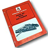 Allis Chalmers Model Wk Offset Disk Harrow Operators Owners Manual Set-Up