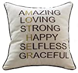 "Sanmetex Best Thanksgiving / Christmas Gifts for Mom Throw Pillow Covers Natural Cotton Linen Cushion Cover Mother In Law Gifts Pillow Cases 18"" X 18"" Inch (Best Presents for Mother's Day Color Brown)"