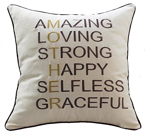 Sanmetex Best Thanksgiving / Christmas Gifts for Mom Throw Pillow Covers Natural Cotton Linen Cushion Cover Mother In Law Gifts Pillow Cases 18