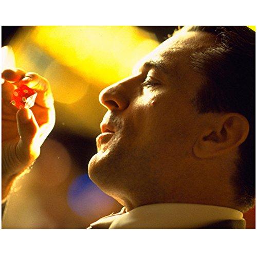 Robert De Niro Head Shot White Collar Holding Red Dice 8 x 10 inch photo
