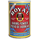 Royal Baking Powder, Gluten Free, Vegan, Vegetarian, Double Acting Baking Powder in a Resealable Can with Easy Measure Lid, Kosher, Halal