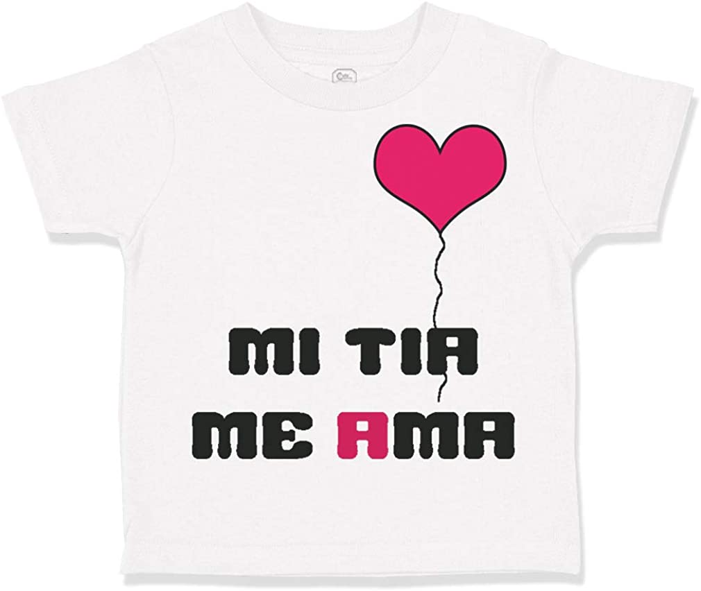 inktastic My T/ía Loves Me with Flowers and Hearts Toddler T-Shirt