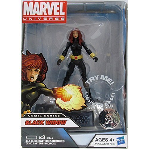 Marvel Universe Exclusive Comic Series Figure With Light Up Base Black Widow