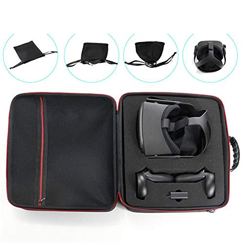 benefit-X VR Case Travel Storage for Oculus Quest Case Oculus Quest VR Headset Foam Hard Travel Case with Double Zipper Design Storage Box Anti-Shock VR Headset Accessories Carrying Bag