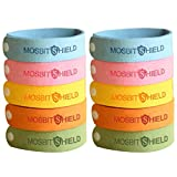 LovelyHomeShop Mosquito Repellent Bracelets 10pcs, 100% All Natural Plant-Based Oil Mosquito Bands, Non-Toxic Travel Insect Repellent, Soft Material For Kids & Adults, Keeps Insects & Bugs Away.