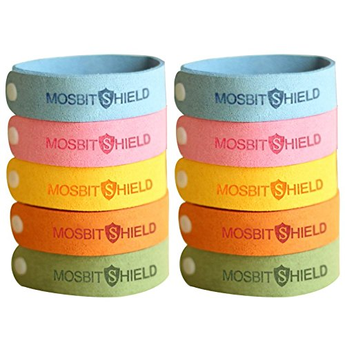 LovelyHomeShop Mosquito Repellent Bracelets 10pcs, 100% All Natural Plant-Based Oil Mosquito Bands, Non-Toxic Travel Insect Repellent, Soft Material For Kids & Adults, Keeps Insects & Bugs Away. by LovelyHomeShop
