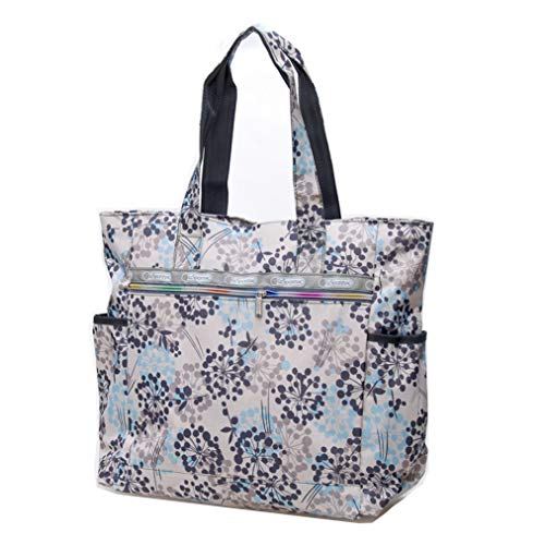 bb29499d2b72 Nylon Water Resistant Multi Pockets Large Lightweight Tote Bag Shoulder Bag  for Gym Hiking Picnic Travel Beach Waterproof Tote Bags  (Babysbreath HB )