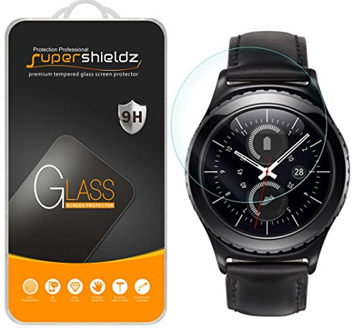 Supershieldz for Samsung Gear S2 Classic Tempered Glass Screen Protector, Anti Scratch, Bubble Free