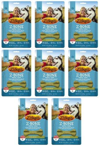 Zukes Z-Bones Edible Dental Chews Regular Apple Crisp 6lb 64ct(8x12oz) by Zuke's