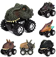 ADOSOUL Pull Back Dinosaur Car for Boys Kids Girls Toddlers Fun Toys Vehicles Playset Gift Die-Cast Vehicles