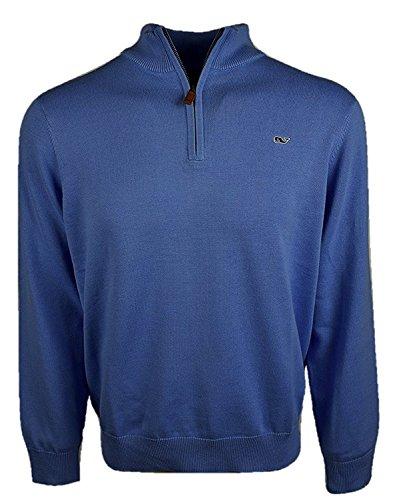 Vineyard Vines Men's Cotton 1/4-Zip Pullover Sweater - Moonshine (Moonshine, Medium) from Vineyard Vines