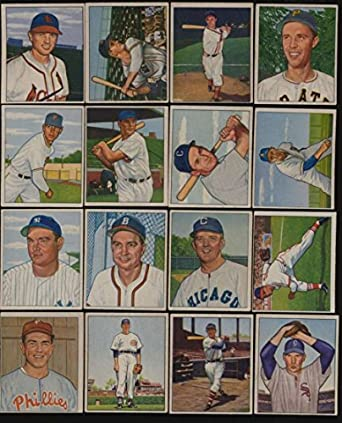 1950 Bowman Baseball Exex Lot Of 16 Different Mid Grade Cards Bv