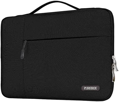 PUREBOX Laptop Sleeve 13-13.3 Inch Protective Carrying Case Bag for 12.9 iPad Pro / MacBook Air / MacBook Pro Briefcase Handbag, Black