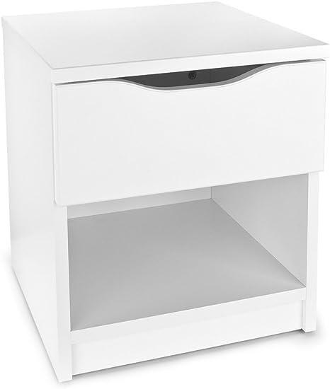 Moderne Table De Chevet Blanche Avec Tiroir Style Moderne Meuble