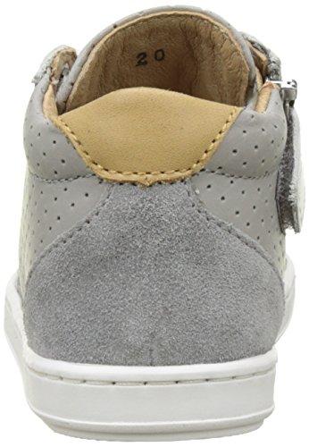 Shoopom Bouba Zip Box - Primeros Pasos de Otra Piel Bebé-Niñas Gris (Grey-Blanc)