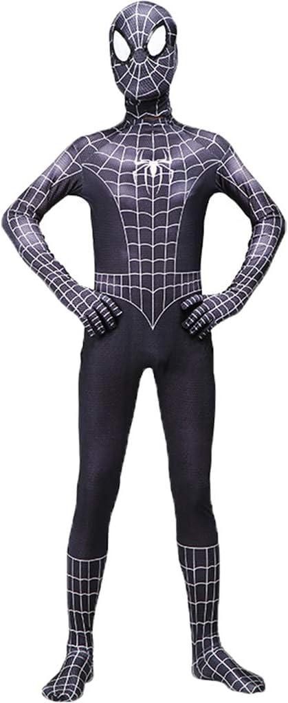 QWEASZER Traje de Hombre araña Negro Traje de Hombre araña Cosplay ...