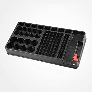 Battery Organizer Case with Tester, VTECHOLOGY Battery Organizer Box with BT168 Battery Tester, Holds 110 Batteries Various Size for AAA, AA, 9V, C, D and Button Battery