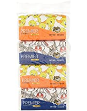 Premier Deluxe Looney Tunes Soft Pack 3 Ply, 120 count, pack of 4