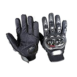 AOW Attractive Offer World PROBIKER FULL FINGERED GLOVES, BLACK (XXL SIZE)