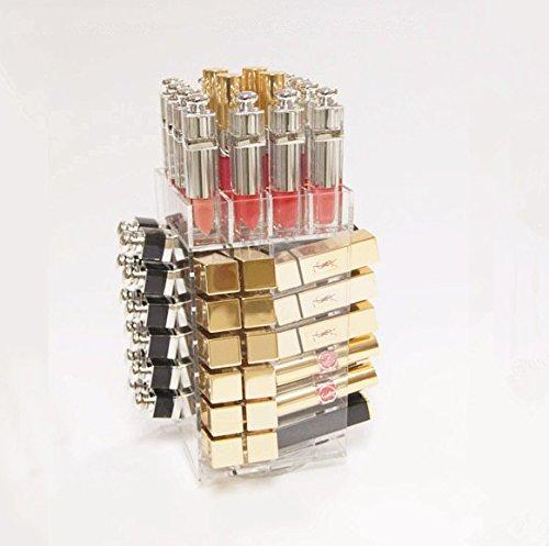 bestlife acr/ílico pantalla de alta calidad Pintalabios Torre giratoria giratorio soporte para pintalabios l115mmx w115mmxh 255/mm modelo m/ás vendido
