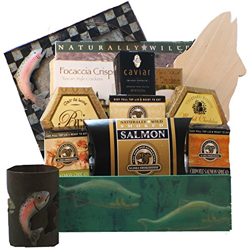 Bounty of the Sea Seafood and Smoked Salmon Gift Basket by Art of Appreciation Gift Baskets