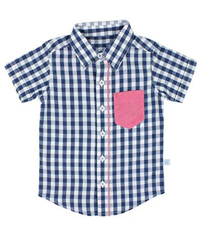 RuggedButts Baby/Toddler Boys Short Sleeve Button Down