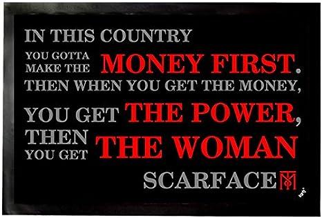 Amazon.com: 1art1 Scarface Door Mat Floor Mat - Money First ...