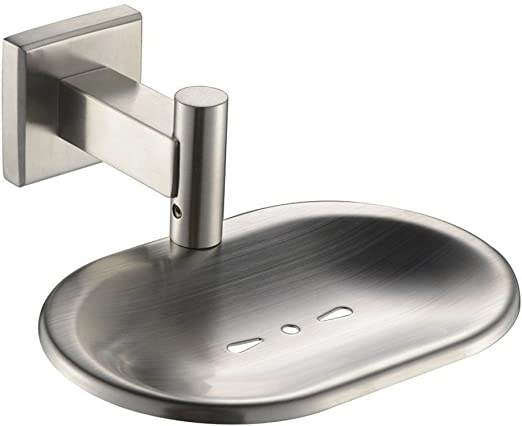 Wall Mounted Bathroom Shower Soap Dish Holder Stainless Steel 304 Brushed Nickel