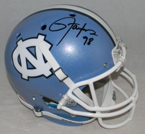 (Lawrence Taylor Signed Autographed Unc North Carolina Tar Heels F/s Helmet - JSA Certified - Autographed College Helmets)
