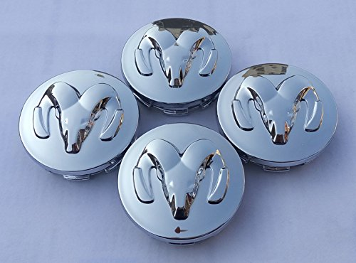 AOWIFT Glossy Silver New Dodge Wheel Center Cap Set Of 4 Ram Durango Dakota (Fits: Dodge Ram ()