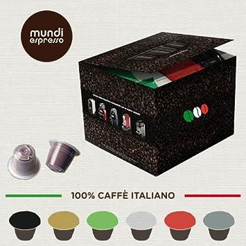 MUNDI ESPRESSO - Cápsulas Compatibles NESPRESSO café italiano ESPRESSO DESCAFEINADO - 100 cápsulas (100): Amazon.es: Hogar