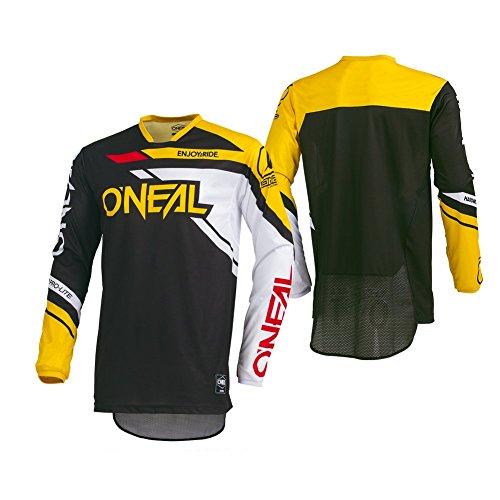 O'Neal Men's Hardwear Rizer Jersey (Black/Yellow, Large) -