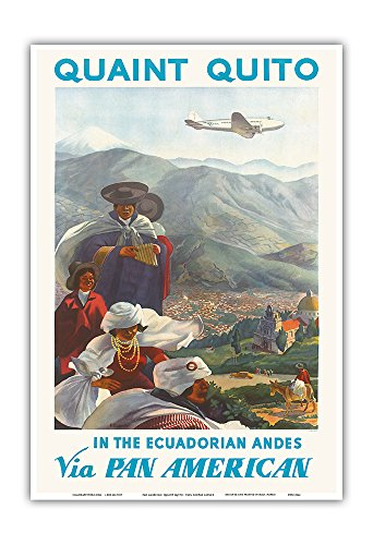e Ecuadorian Andes - Via Pan American Airlines (PAA) - Native Quichua Indians - Vintage Airline Travel Poster by Paul George Lawler c.1938 - Master Art Print - 13in x 19in ()