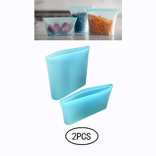 Xiton 2PCS Reutilizable Silicona Bolsas De Almacenamiento De ...
