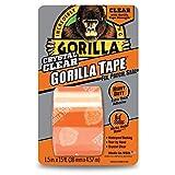 Gorilla Crystal Clear Cinta de conducto, 1.88 pulgadas x 5 yardas, transparente, (Pack of 1), Transparente