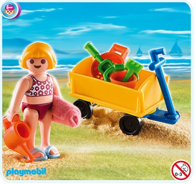 Girl with Beach Wagon