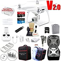 DJI Phantom 4 PRO V2.0 (V2) Drone Quadcopter Bundle Kit with 4K Professional Camera Gimbal and MUST HAVE Accessories