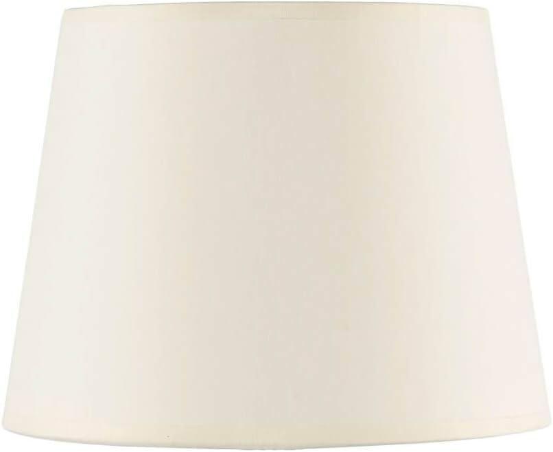 Konischer Lampenschirm Stoff Wei/ß f/ür Stehleuchten Fassung E27 blendarm MAJA Schirm Stehlampe