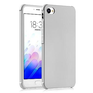 Hevaka Blade Meizu M3X Funda - Suave Silicona TPU Carcasa Smart Case Cover Para Meizu M3X - Gris