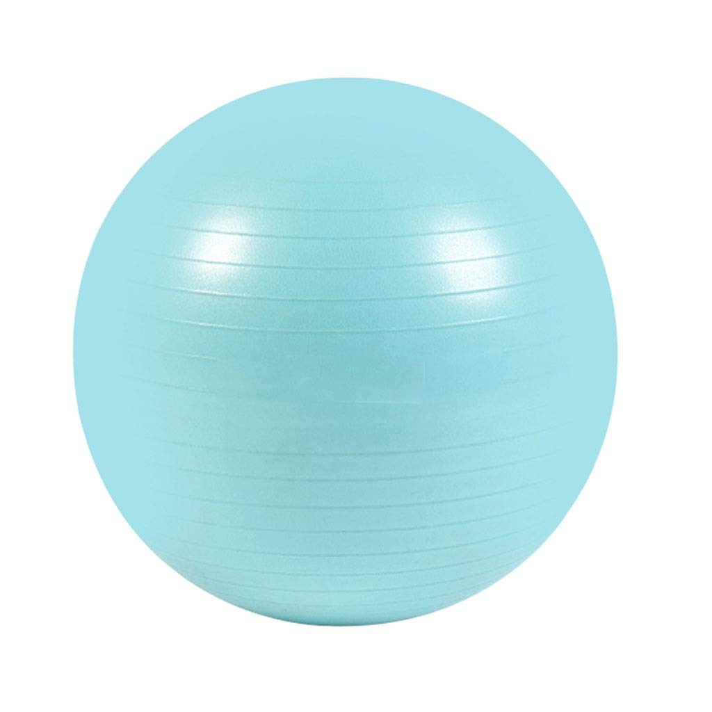 Anti-Burst Exercise Ball, Anti-Slip Gym Ball Stability Ball with Pump for Yoga Pilates Fitness Physical Therapy Gym and Home Exercise (Color : Blue, Size : 55cm)